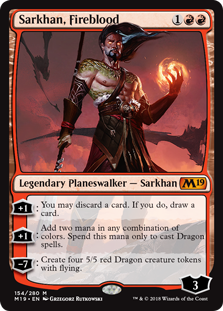 Sarkhan, Fireblood - Core Set 2019