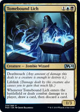 Tomebound Lich - Core Set 2020