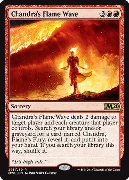 Chandra's Flame Wave - Core Set 2020