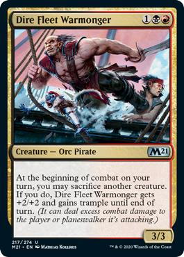 Dire Fleet Warmonger - Core Set 2021