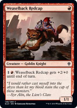 Weaselback Redcap - Throne of Eldraine