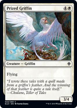 Prized Griffin - Throne of Eldraine