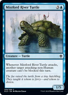Mistford River Turtle - Throne of Eldraine