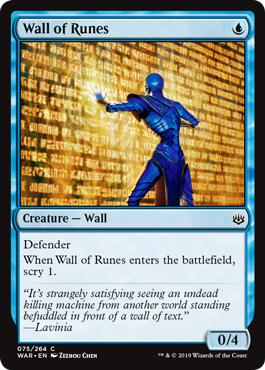 Wall of Runes - War of the Spark