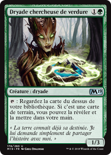Dryade chercheuse de verdure - Magic 2019