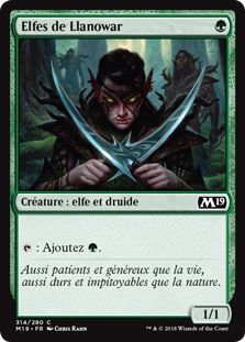 Elfes de Llanowar - Magic 2019